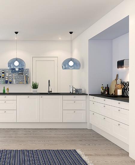 aubo nordic køkken i hvid