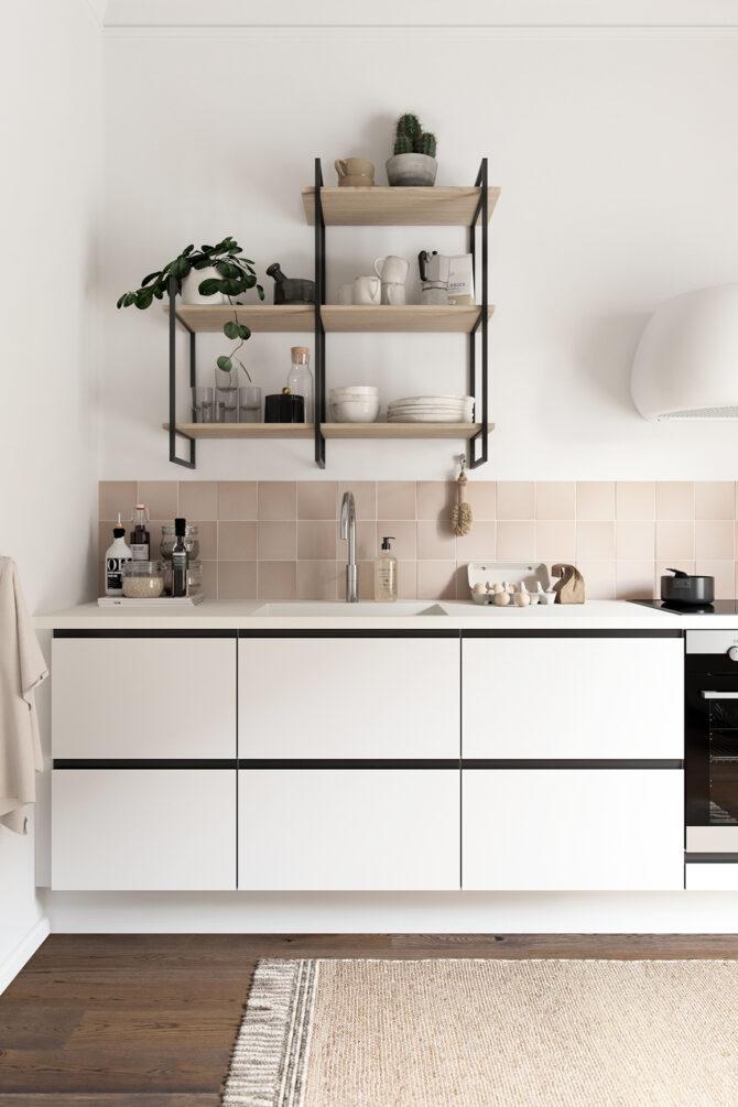aubo venezia køkken i hvid og sort