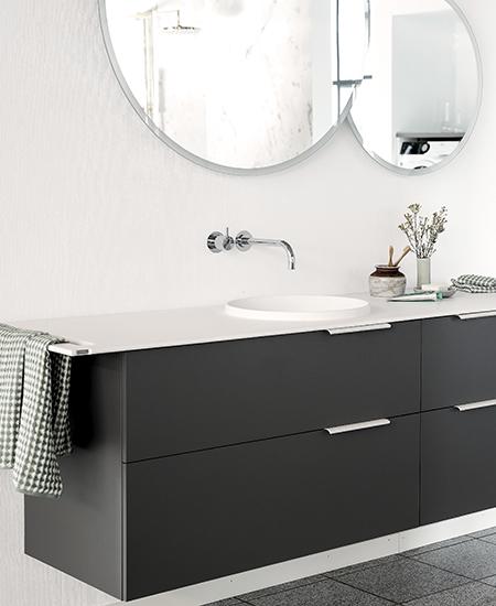 aubo unik bad i grå